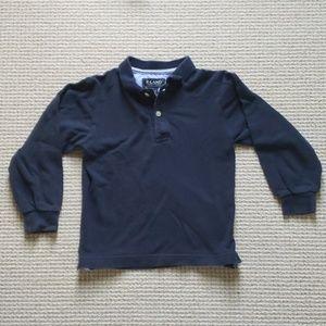 E-LAND navy blue long sleeve polo size 5